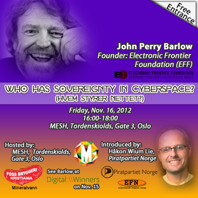 John Perry Barlow in Oslo